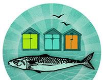 Fish badge & banner for B&H Food Partnership