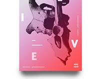 Typography Poster Design Screen Print Grain Effect
