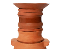 Fogon. Stackable cooking on clay pots.