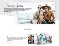 The Bucketlist Family :: Website Redesign Concept