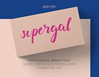 Supergal Casual Brush Font | Online!