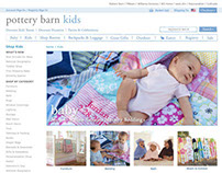 Pottery Barn Kids (Web Design)