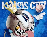 Kansas City Screwball shadowbox