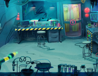Background Paintings for 3-CISD Mad Scientist
