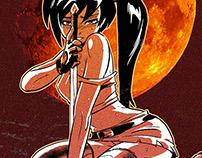 Action scene of Malefic Soum Manga.
