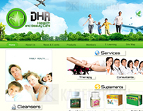DHA Health Club Web Design