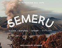 SEMERU - FREE HANDWRITTEN SANS FONT