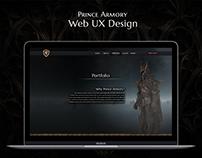 Armory Website UX / UI Design - Gothic Concept