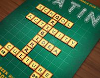 Latin Scrabble Night Poster
