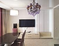 Дизайн проект 2х комн. квартиры 75м2 в ЖК Московский