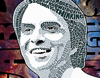 Carl Sagan Custom Text Portrait