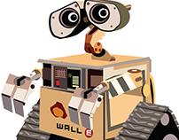 Pirate & Wall-E Illustration (Adobe Illustrator)