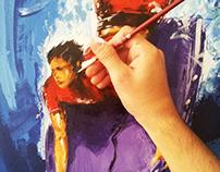 Bodyboarder - Acrilic on Canvas 1,20x60cm
