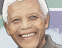 Nelson Mandela illustration - cartoon by Venc design