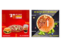 Pizza Burger Combo Social Media
