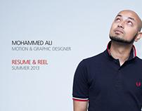 Resume & Reel 2013