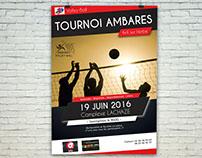 Affiche pour un tournoi de Volley