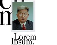 Trump Jung-Un (Lorem Ipsum MACD Exhibition)