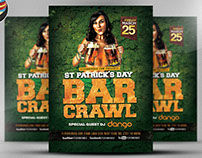 St. Patrick's Day Bar Crawl Flyer Template