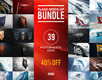 3D Flag`s Bundle Mock-up