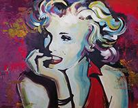 Marilyn Monroe - Acrilic on Canvas 1x1,5m Painting