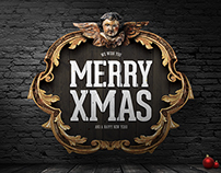 4 PSD Christmas Badges