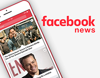 facebook news - app concept