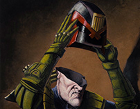 """""""The Void"""" - Dredd painting"""