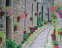 Alley In Giverny