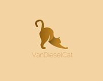 Abstract Cat Logo