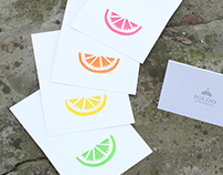 Citrus Cards & Coasters - for Igloo Letterpress