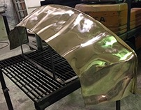Custom Sculpted Bronze Vanity