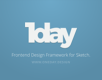 Oneday - Frontend Design Framework for Sketch.