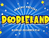 DOODLELAND DISPLAY FUN CHILDREN - FREE FONT