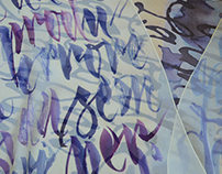 Silk Calligraphy Scarves