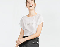 YOURSELF TEXT T-SHIRT FOR ZARA A/W 15