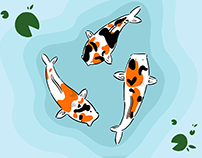 Vector Koi - Made with Adobe Fresco