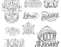 Lettering Design sketches