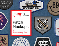 Patch Mockups + Embroidered Generator