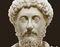 Marcus Aurelius digital portrait
