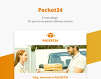 Packet24/E-mail design for delivery service