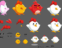 Chickens - chara design