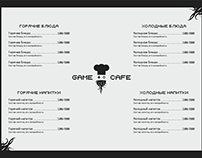 Меню для Game Cafe