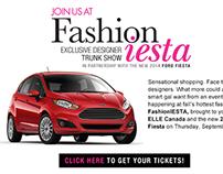 ELLE Canada Ford Fashioniesta subchannel campaign