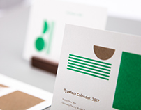 Typeface Calendar, 2017