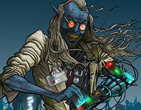Koobface - Computer Virus Character