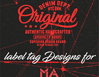 Label Tag MA brand