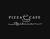 Pizza Cafe Bílina logo design