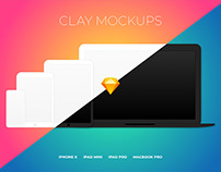 Clay Device Mockups for Sketch - FREE