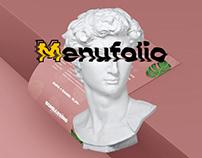 Restaurant Menu Portfolio set
